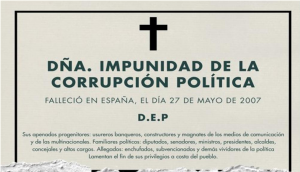 Dña impunidad de la corrupción política