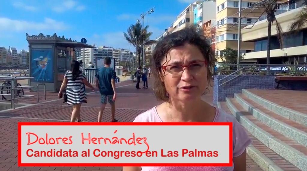 Dolores Hernández, candidata al Congreso en Las Palmas