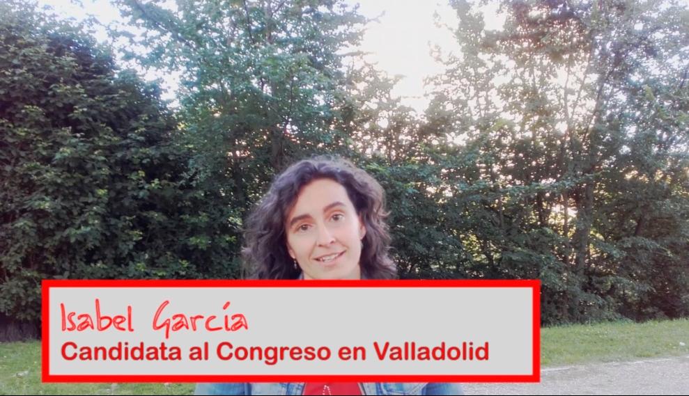 Isabel García, candidata al Congreso en Valladolid