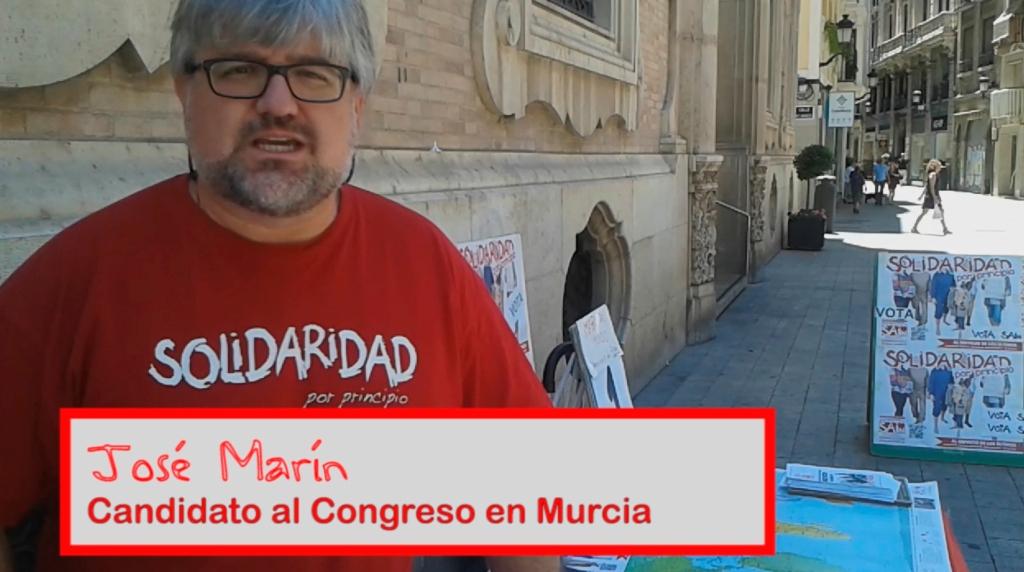 José Marín, candidato al Congreso en Murcia