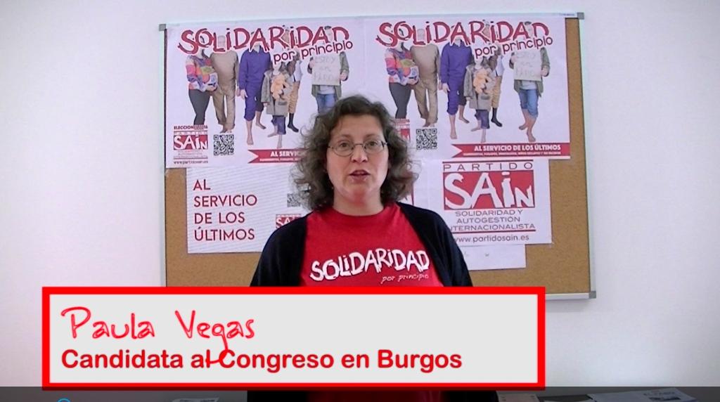 Paula Vegas, candidata al Congreso en Burgos