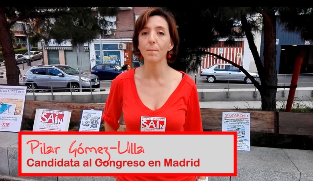 Pilar Gómez-Ulla, candidata al Congreso en Madrid