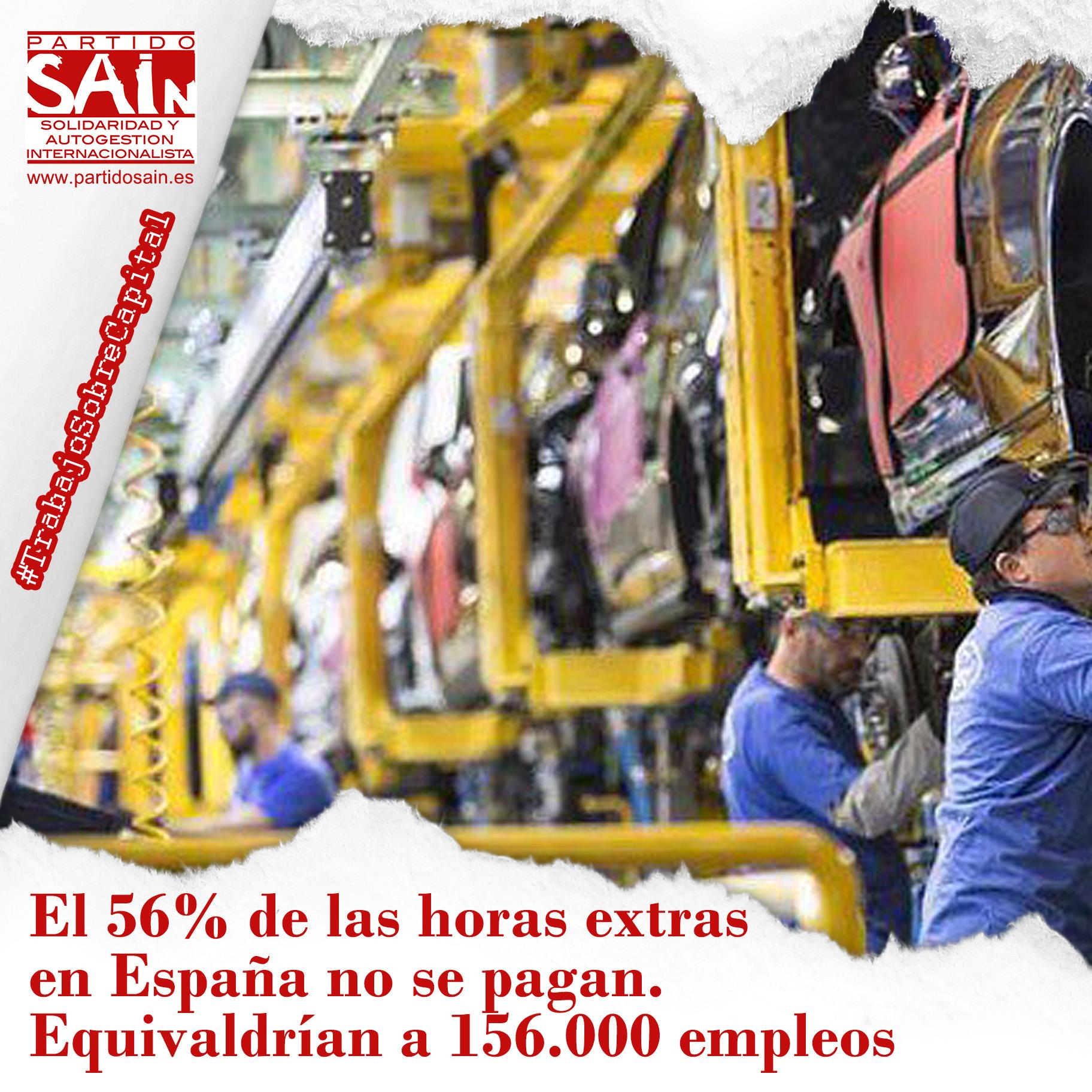 El 56% de las horas extra en España no se pagan y equivaldrían a 156.000 empleos