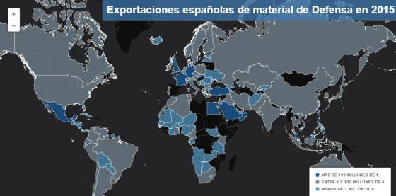 ¿A quién vende armas España?