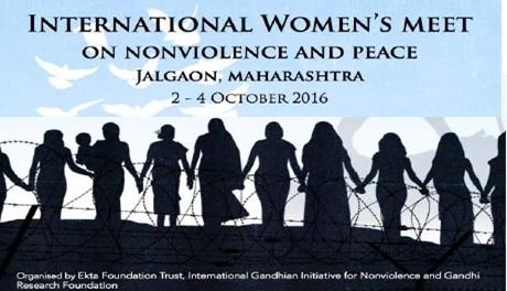 Encuentro Internacional de Mujeres sobre Noviolencia y Paz.