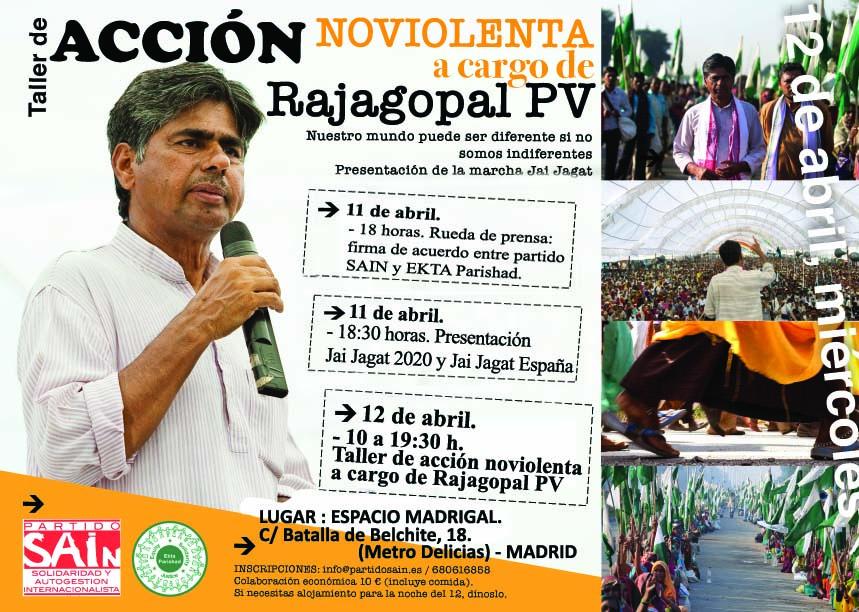 Cartel Jornada Rajagopal Madrid