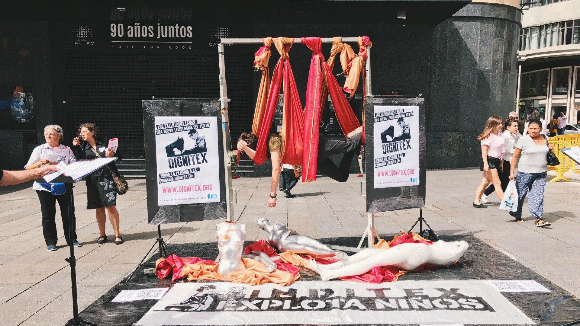 La plataforma DIGNItex denuncia las condiciones de esclavitud de los trabajadores del textil