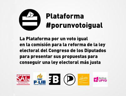 La Plataforma por un Voto Igual lleva al Congreso propuestas concretas para lograr una reforma electoral hacia la igualdad