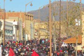 Movilizaciones en Yerada (Marruecos)