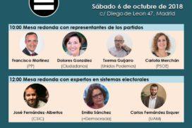 Mesas redondas de la jornada sobre la reforma electoral